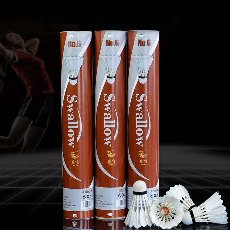 12 pçs/lote badminton badminton ball, acessórios de fitness para esportes ao ar livre obturador de bola de badminton e badminton