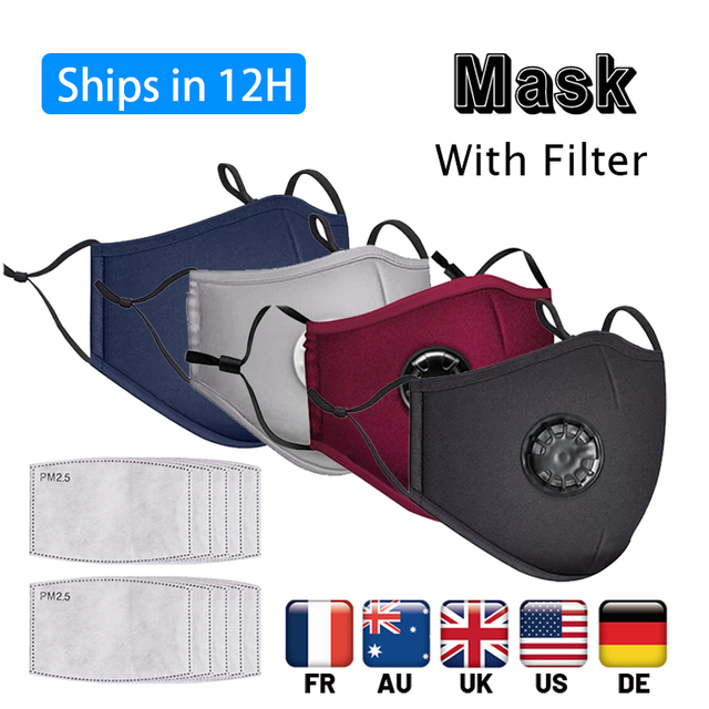 Fast Shipping Face Breathable Mouth Mask 3D Breathing Valve Adult Children Reusable Washable Proof Soft Anti-Flu Mask PM 2.5