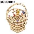 Robotime 84 stücke Drehbare DIY 3D Starry Nacht Holz Modell Gebäude Kits Montage Musik Box Spielzeug Geschenk für Kinder Kinder erwachsene