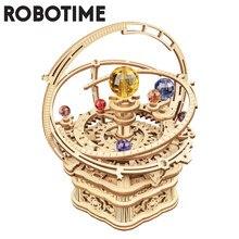 Robotime 84 pièces Rotatif BRICOLAGE 3D Nuit Étoilée En Bois Modélisme Kits L'assemblée Boîte À Musique Jouet Cadeau pour Enfants Enfants Adultes