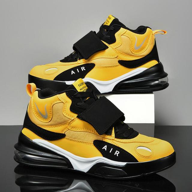 Zapatillas deportivas de baloncesto para hombre, zapatos masculinos de alta calidad, transpirables, con amortiguación de aire, para exteriores, 38-45, otoño e invierno, 2021 1