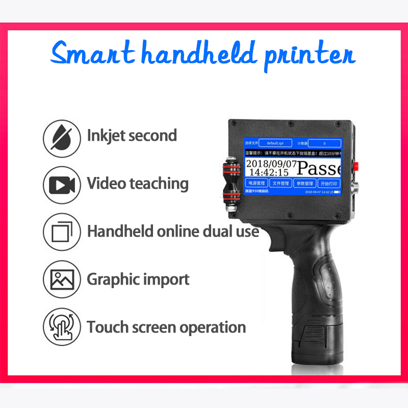 Smart inkjet handheld printer Automatic online laser Coding Machine Food Price Production Date Small Coder Tag Barcode