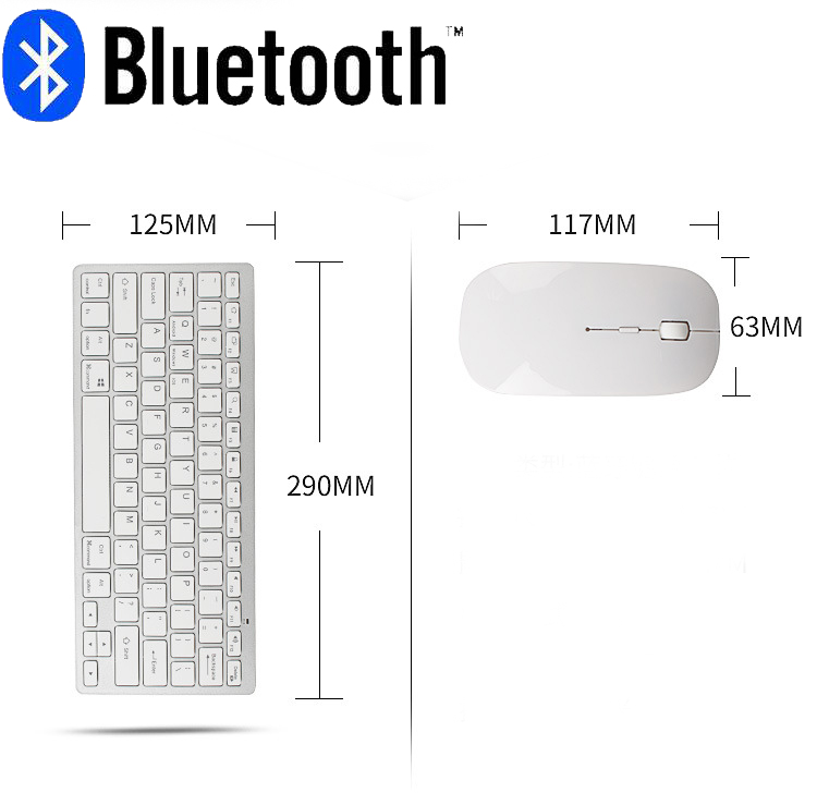 Image 5 - Bluetooth keyboard mouse combo with multimedia function wireless connection for Android/Windows tablet PC computerKeyboard Mouse Combos   - AliExpress