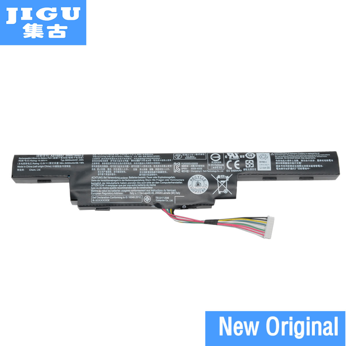 JIGU AS16B5J AS16B8J Original Laptop Battery For ACER For Aspire E5-575G 10.95V 61.3WH