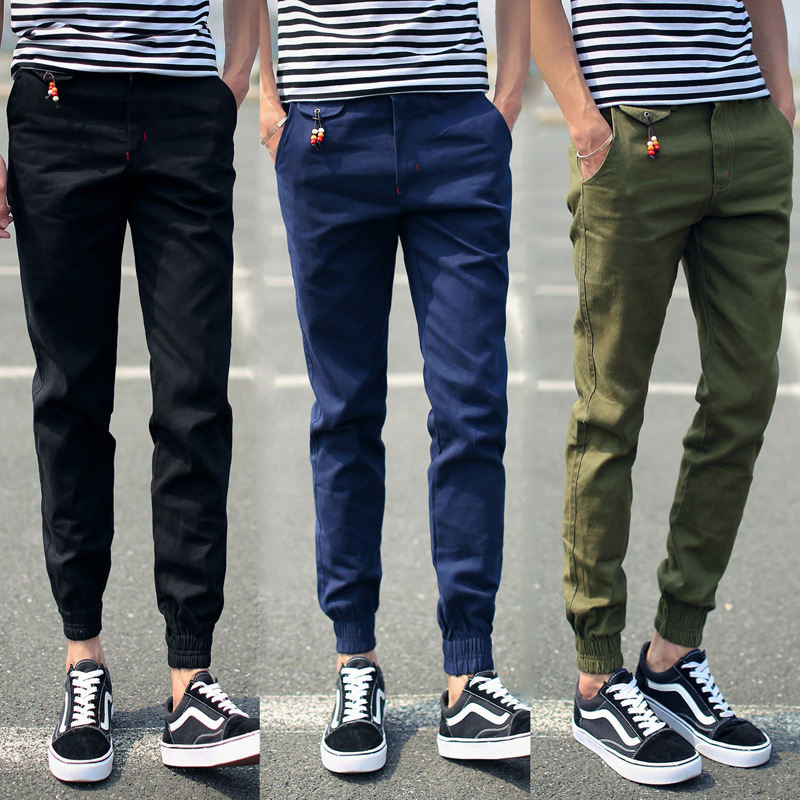 Supply Of Goods Large Size Men Ankle Banded Pants 9 Pants Casual Pants Men Capri Pants Men's