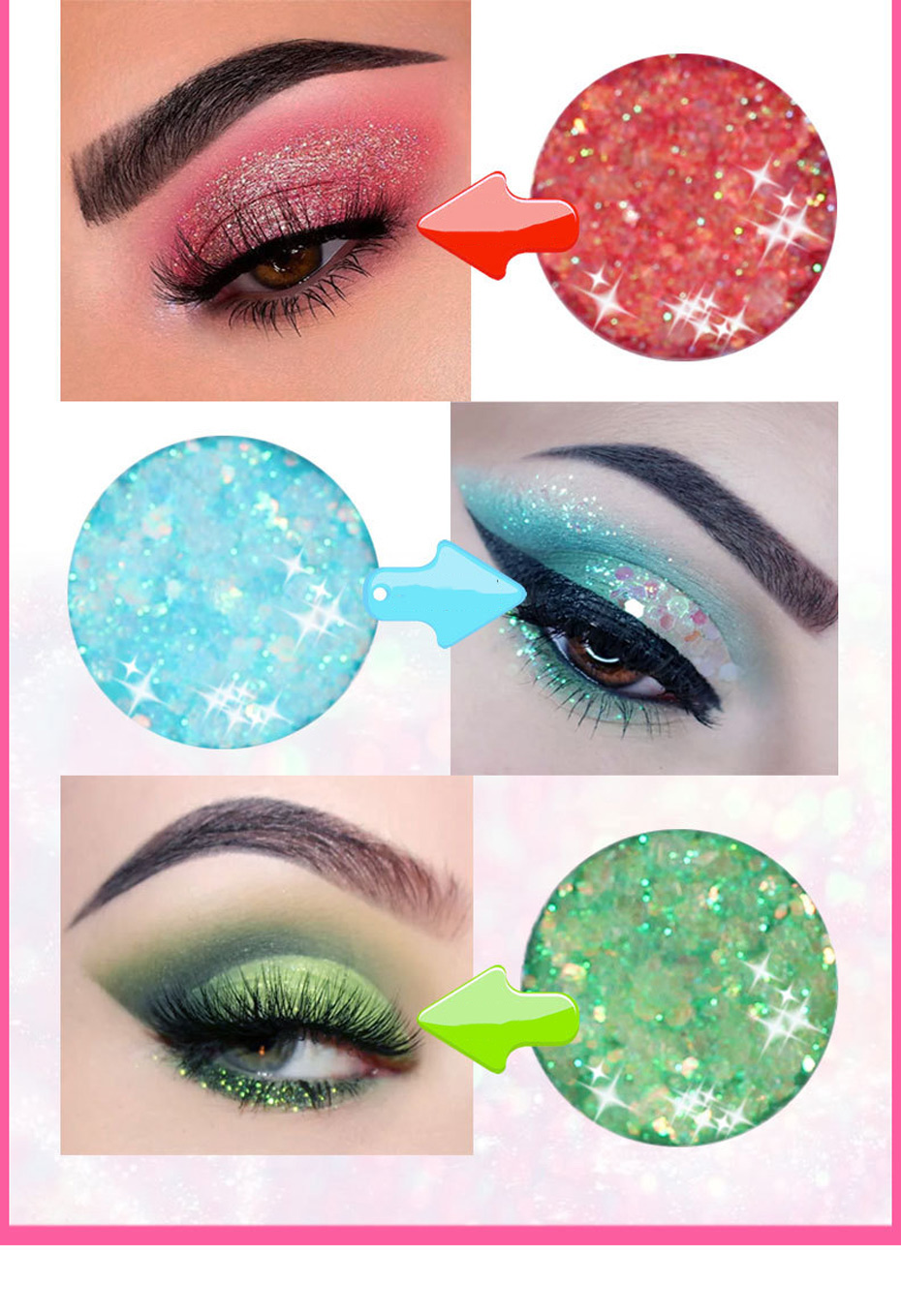 ANYLADY 10 Color Matte Eyeshadow Diamond Glitter Sequin Shimmer Makeup  Rainbow Pigment Palette Professional Party Shadow Kit|Eye Shadow| -  AliExpress