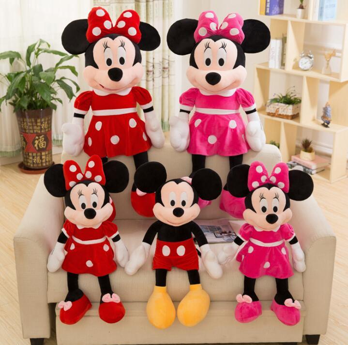 20cm de alta calidad de peluche Mickey y Minnie Mouse muñecas de peluche regalos de bodas, cumpleaños para niños bebés Juguete de alta calidad dibujo de osito de felpa juguetes de peluche 25cm animales de peluche oso muñeca regalo de cumpleaños para niños