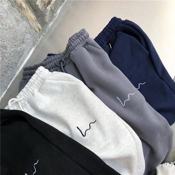 Spodnie haremowe damskie dorywczo luźne koreańskie grube spodnie dresowe jesienno-zimowa moda nowe spodnie Femme tanie i dobre opinie POLIESTER Mikrofibra Spodnie do kostek Z KIESZENIAMI CN (pochodzenie) Zima Stałe Wyjściowe Proste Mieszkanie REGULAR Dla osób w wieku 18-35 lat