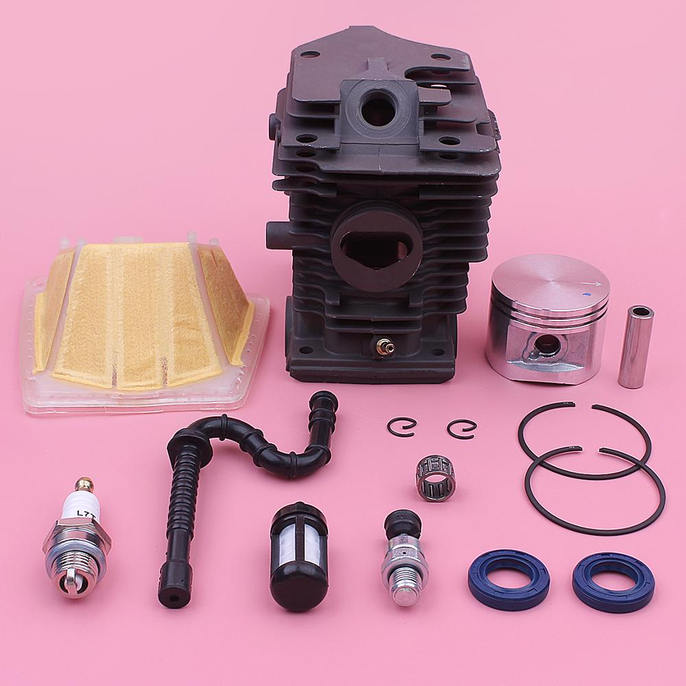46mm Cylinder Piston Air Filter Kit For Stihl MS270 MS280 Chainsaw 1133 020 1203 1133 120 1604 w Oil Seal Needle Bearing
