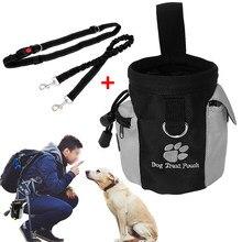 Elastische Hondenriem Nylon Huisdieren Hond Training Heuptas Gehoorzaamheid Agility Training Treat Bag Afneembare Feed Opslag Snack Zakken