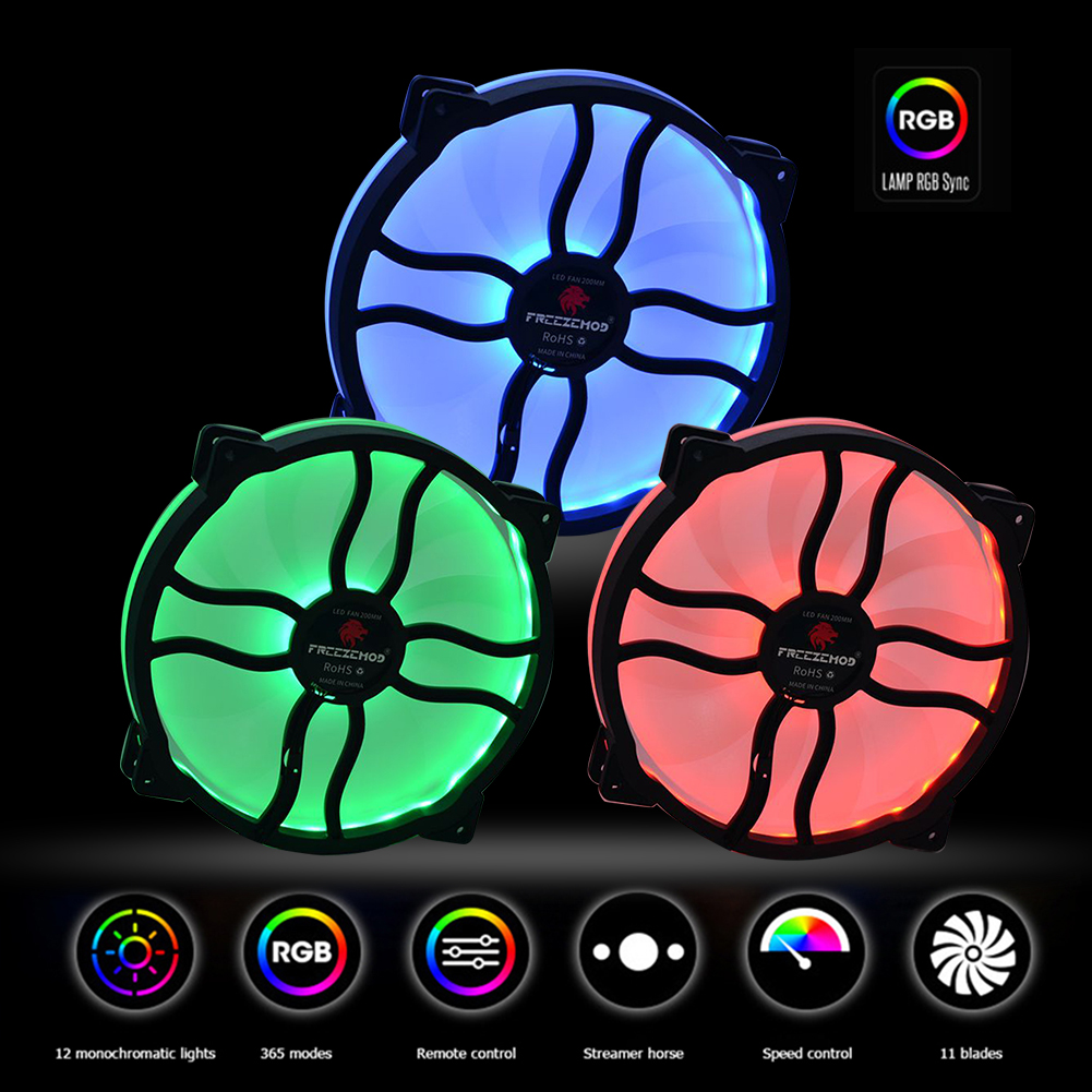 FAN-L20 Manual Control 20cm RGB PC Case Cooling Fan for CPU Water Cooling Computer components and hardware