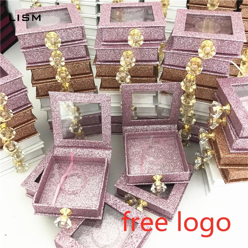 Custom Eyelashes Packing Boxes Gift Box Lashes Package Customize Storage Cases Makeup Cosmetic Case Mink False Eyelash