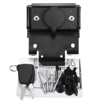 Para Jeep para Wrangler JK 2007-2016 Black Hood Lock Car Anti-Theft Kit de llave de seguridad montaje accesorios de coche piezas de repuesto