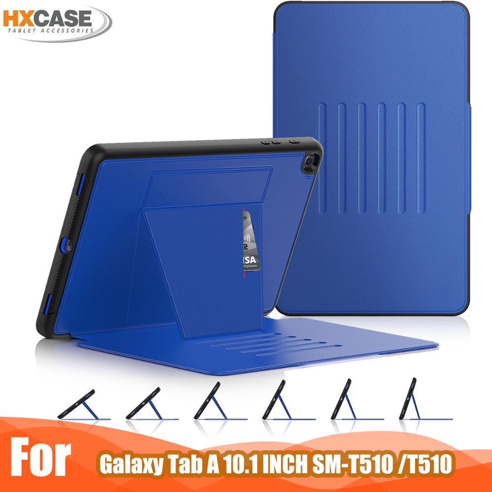 HXCASE for <font><b>samsung</b></font> <font><b>galaxy</b></font> <font><b>tab</b></font> <font><b>a</b></font> <font><b>10</b></font> <font><b>1</b></font> <font><b>2019</b></font> case <font><b>10</b></font>.<font><b>1</b></font> inch magnetic smart cover with adjustable kickstand image