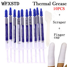 10PCS New Original Thermal Grease Paste Compound Silicon CPU Heat Sink CPU Processor Cooling paste silicone Thermal grease цена и фото