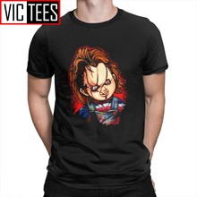 Men Seed Of Chucky T Shirt Freakshow Children Play Clothing Crazy Horror T-Shirts Awesome 100% Cotton Tees(China)