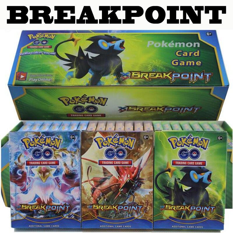 Pokemon 408cards / Box Card Game BREAK POINT Pokemons Trade Cards Games Children Toys