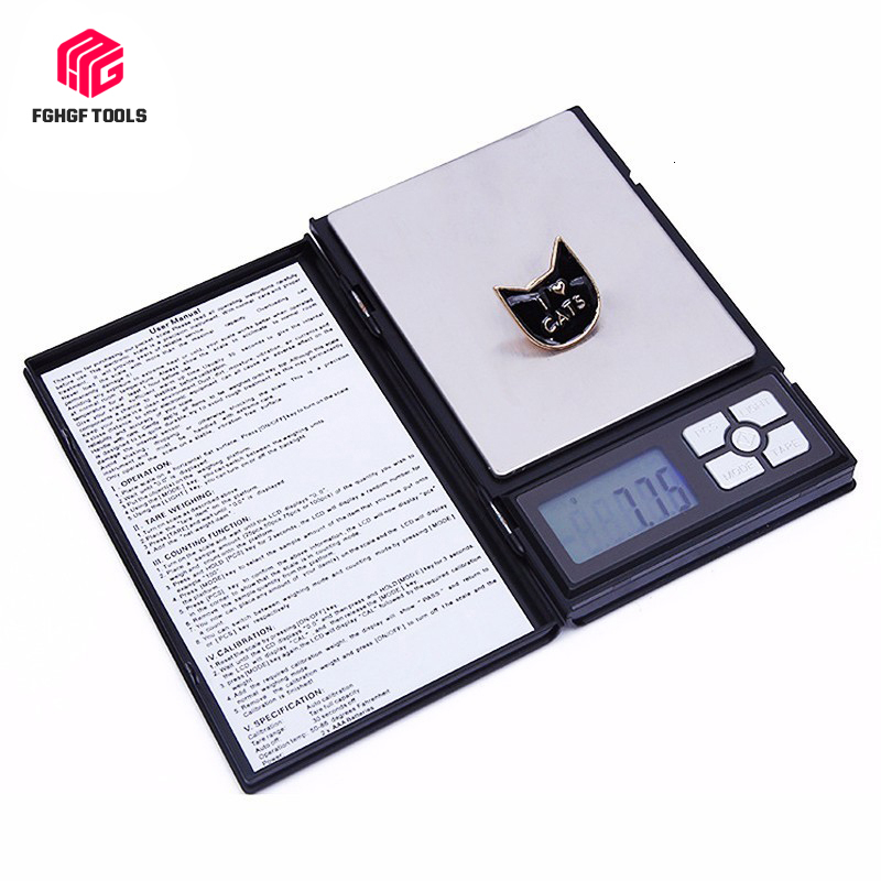 FGHGF 0.01g 500g Notebook Electronics Counting Medical Gold Jewelry Scales Personal Digital Precision Electronic Accessories