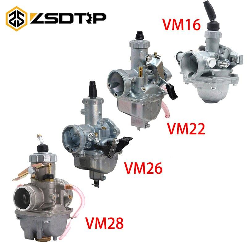 Mikuni ZSDTRP VM16/22/26/28 19mm 26mm 30mm 32 milímetros Carburador Carb Para motocicleta Sujeira Pit Bicicleta ATV QUAD 50cc-200cc Motocross