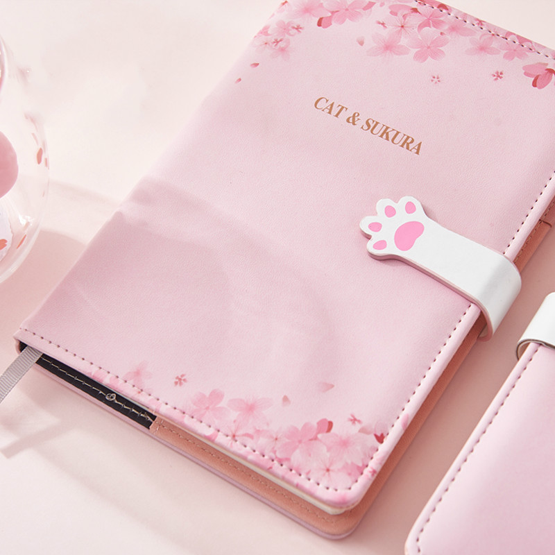 Image 2 - A5 Agenda 2019 2020 Schedule Planner Organizer Creative Kawaii Password Notebook with Lock Girl Diary Notebook Bullet Journal-in Notebooks from Office & School Supplies