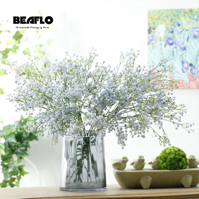 1pc Artificial Baby's Breath Flower Gypsophila Fake Silicone plant for Wedding Home Hotel Party Decoration 5 Colors 6