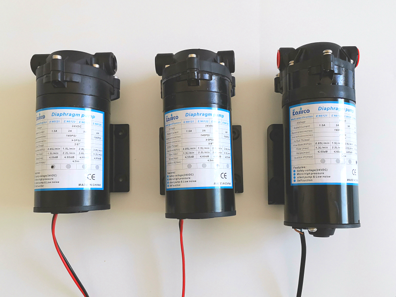 5 3L min 24VDC Diaphragm Pump for LOW powerd outdoor cooling system