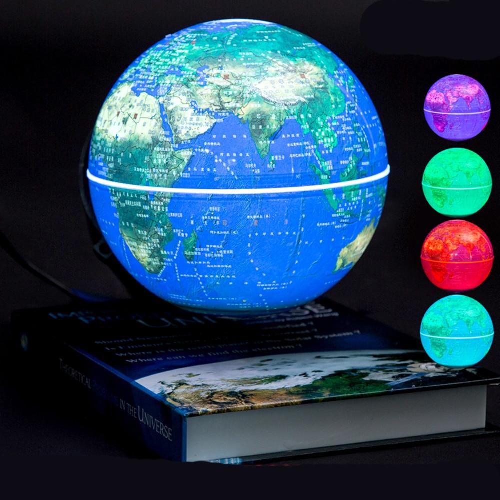 6 Inch Magnetic Rotating Globe Anti-Gravity Floating Levitating Earth Globe World Map For Desktop Office Home Decor Best Gift