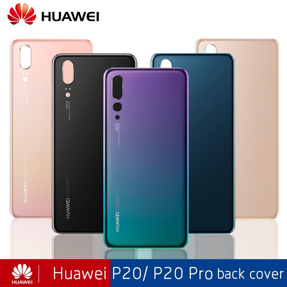 OEM pour HUAWEI P20/P20 Pro porte couvercle de boîtier arrière en verre remplacement de couvercle de batterie arrière pour Huawei p 20 pro avec objectif de caméra