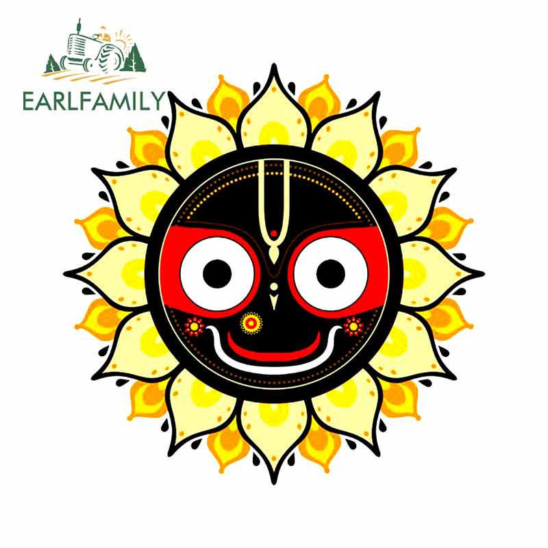EARLFAMILY 13cm X 13cm For Krishna Graphics Stock Pictures Car Decal Bumper Window Sticker Fashion Occlusion Scratch For VAN RV