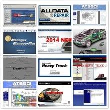 2020 heißer Alldata Mitchell Software AutoData 3,38 + Alle daten 10,53 + mitchell auf nachfrage 2015 + ElsaWin + Lebendige + atsg 24 in 1tb HDD USB 3.0