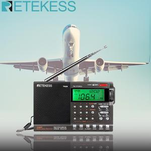 Retekess TR608 FM / MW/ SW / Air Multi Band Radio Speaker Portable Digital Radio with LCD Display with Clock Alarm Sleep timer(China)