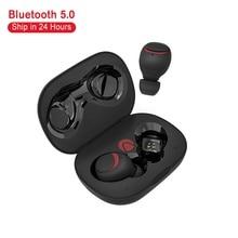 BlitzWolf Kopfhörer brother AIRAUX Mini Wahre Wireless bluetooth Kopfhörer Hallo fi Stereo Wasserdicht Headset Lade Fall Auf Lager