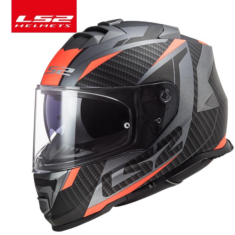 Мотоциклетный шлем LS2 FF800, защитный шлем на все лицо, с системой без тумана
