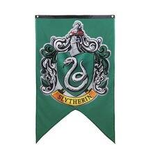 Pott bruxaria bandeira hogwarts faculdade crianças har meninos meninas banners dia das bruxas festa de natal decoração mágico presente slytherin