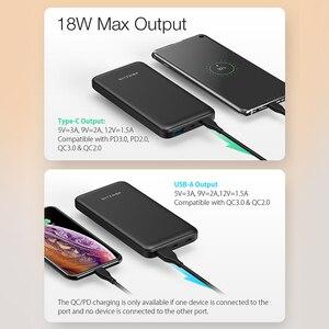 """Image 3 - BlitzWolf BW P9 18W 10000mAh USB פ""""ד QC 3.0 כוח בנק סוג C מהיר טעינה כפולה עבור iPhone 12 פרו מקסימום עבור Xiaomi עבור Huawei"""