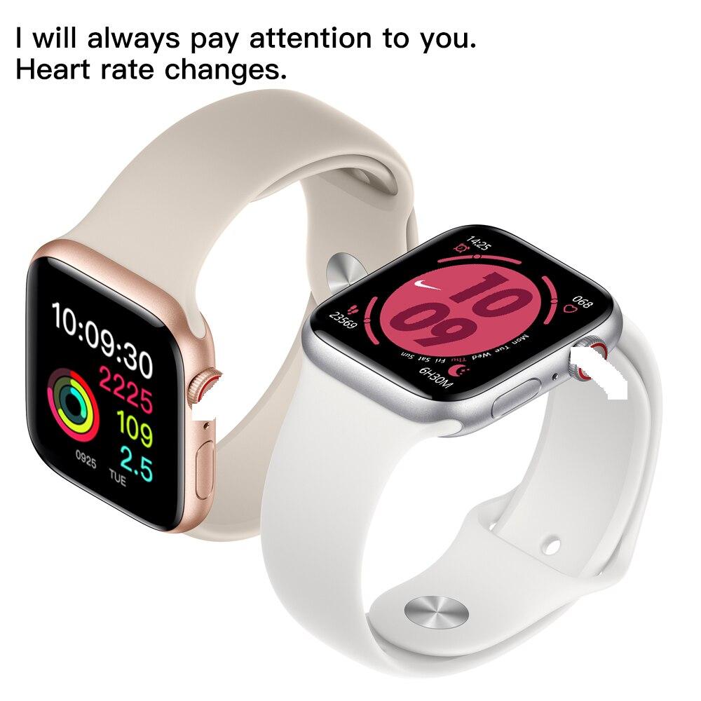 Смарт часы W55M с беспроводной зарядкой, Bluetooth, ECG, голосовое пробуждение, 44 мм диаметр, спортивный браслет для IOS телефона, бесплатная доставка - 6