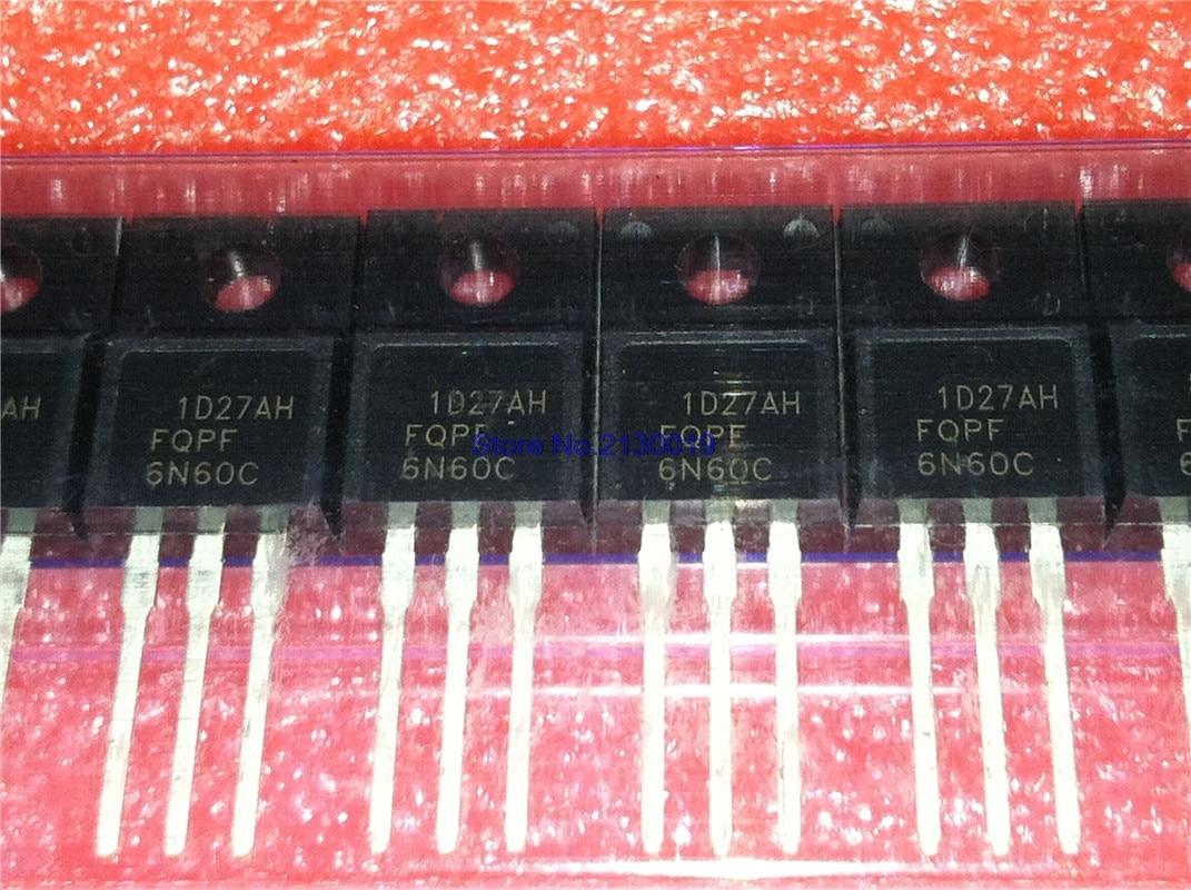 10pcs/lot FQPF6N60C 6N60C 6N60 FQPF6N60 TO-220F In Stock