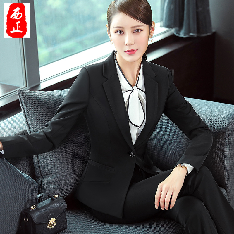Spring And Autumn Wear WOMEN'S Suit Gray Open Wire Joint Pocket Slip-Buckle-Style Going To Work Interview Suit