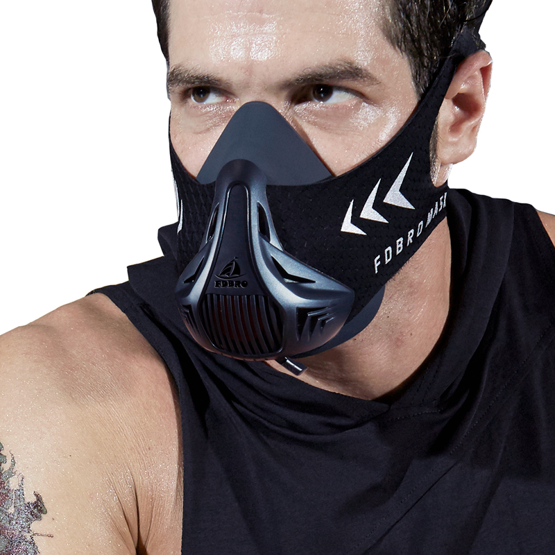 FDBRO Cardio Training Sports Fitness Mask Elevation Workout Exercise Cycling Jogging Bicycle Altitude Resistance Sports Mask 2.0