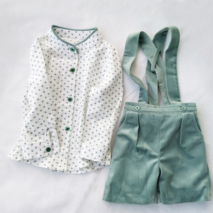 Image 3 - Baby boys Girls Clothes Set tie bow Toddler cotton romper Overalls Shorts red Lattice Summer Kids Clothing Set Infant Outfits