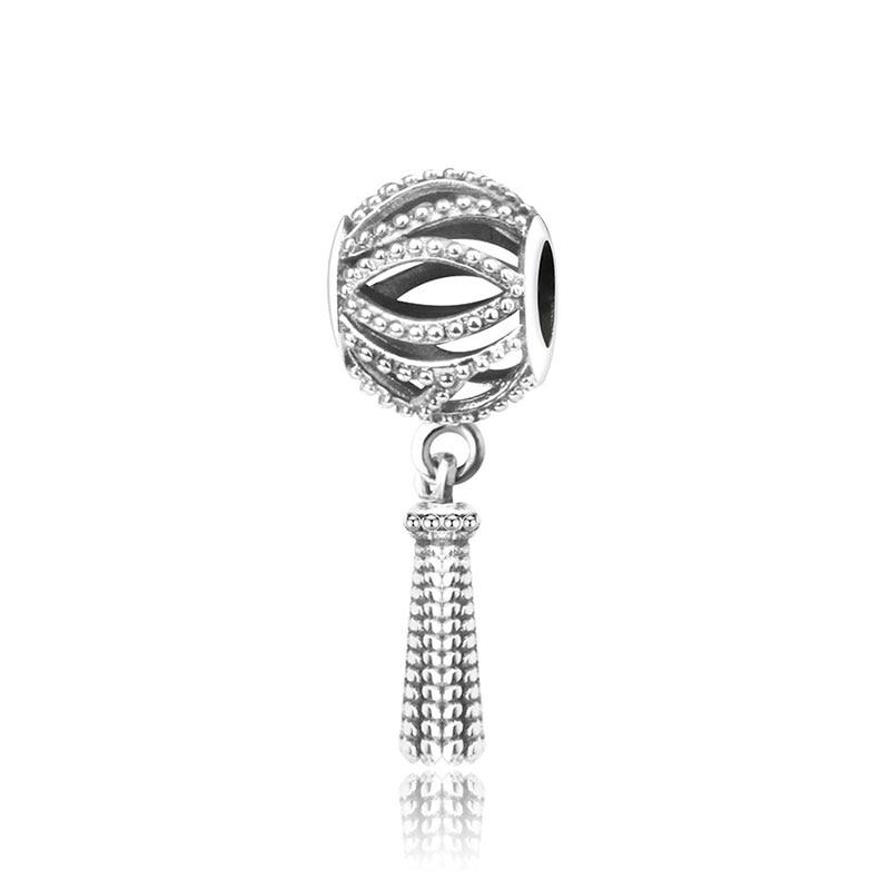 Подходит для оригинальных браслетов Pandora DIY Ювелирные изделия Осенняя коллекция ромашки ажурные шармы 925 пробы серебряные бусины в виде цветка - Цвет: A44