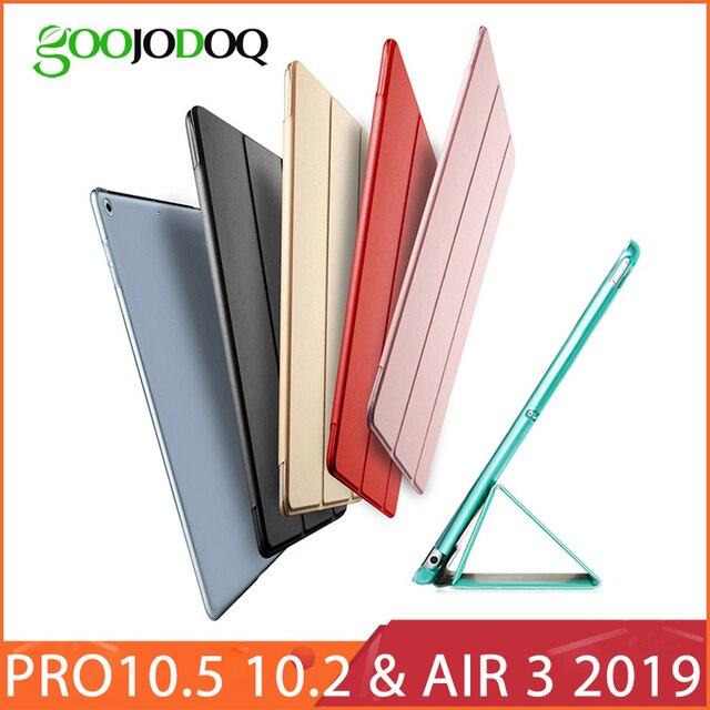 Для iPad Pro 10,5 чехол 2017/iPad Air 3, 2019, чехол/10,2, искусственная кожа, прозрачный ПК, умный чехол для iPad 10,2, 2019