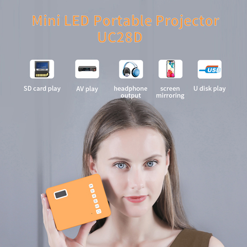 Hd mini uc28d 16.7m projetor de vídeo portátil cinema em casa escritório supplie suporte móvel filme jogo lcd proyector-0