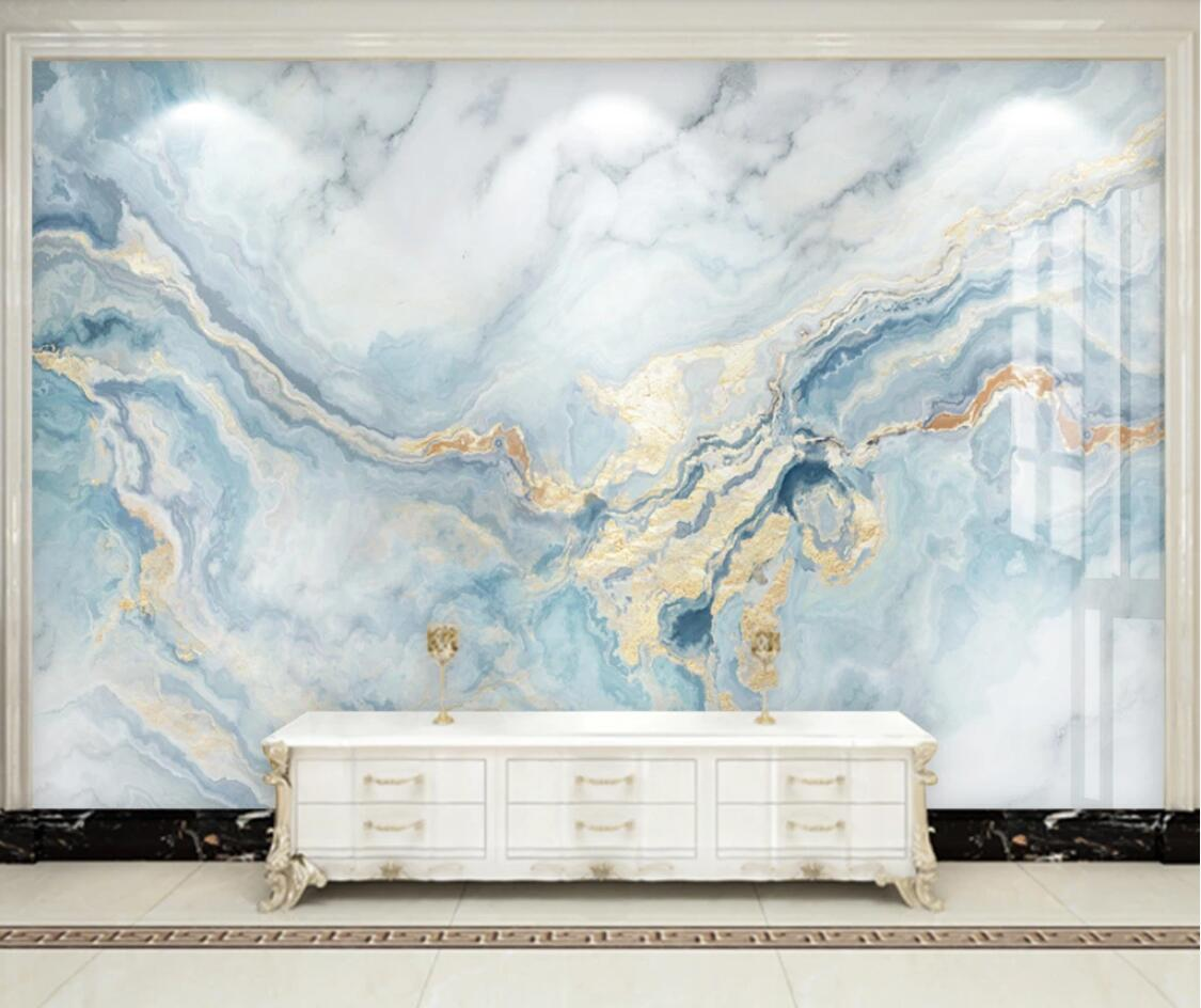 Nordic Abstract Mural Blue Marble Wallpaper Luxury Wall Painting For Living Room Wall Art Hd Canvas Prints Textured Wallpaper Wallpapers Aliexpress