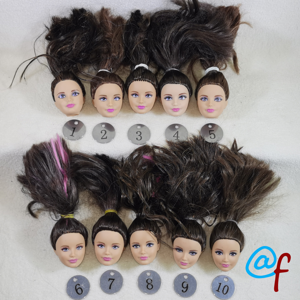 B10-2 Original Foreign Trade Eastern Europe Beauty  1/6 OOAK NUDE Rarely Doll Head Mussed Many Hair For DIY Soft PVC Head