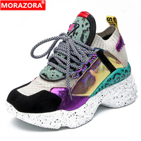 MORAZORA Plus size 35 42 Genuine Leather Sneakers Women Vulcanized Shoes Lace Up Fashion Platform Casual Shoes Womens Sneakers