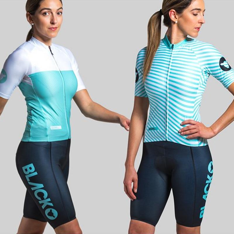 Black Sheep Cycling Racing Club LDN Womens Short Sleeve Jersey Suit MTB Sport Bike Set Cycle Shirt And Gel Pad Bib Shorts