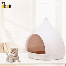 Winter Pet Nest Semi-closed Yurt Cat Litter Creative Warm New Home Supplies Small And Medium Accessories