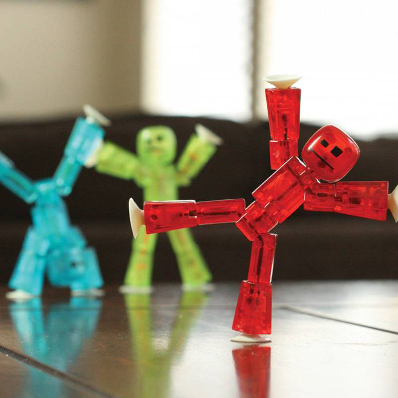 1PC Cute Sticky Animal Robot Sucker Suction Cup Funny Deformable Stick Bot Action Figure Toy For Kids Gifts