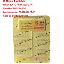 цена на 10Pcs Caiyu Dental Tungsten Steel Carbide Burs For High Speed Handpiece  Dental Diamond Burs Drill 10 Size choices